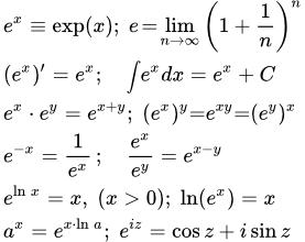 Производная натурального логарифма в степени икс